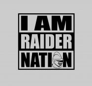 "Grey ""I am Raider Nation"" T"